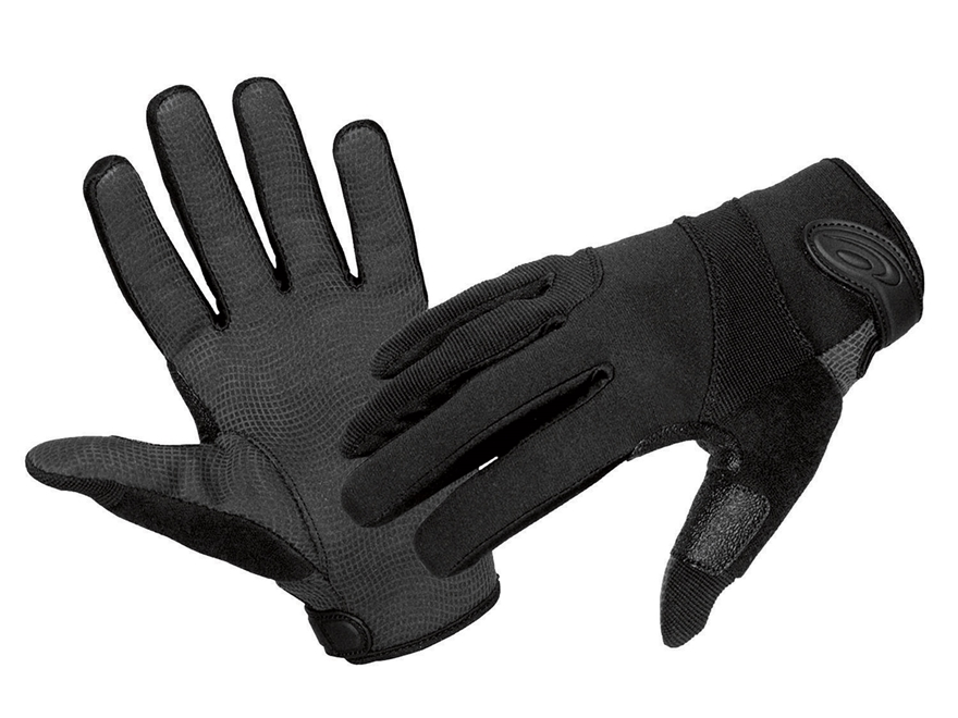 Hatch SGK100 Street Guard Duty Gloves with Kevlar Liner Synthetic Blend Black Large