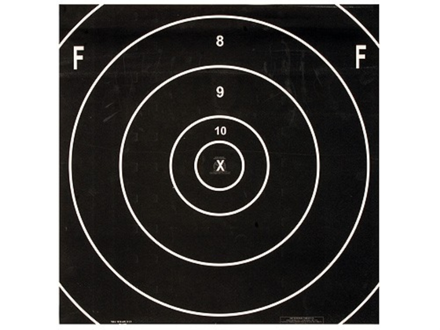 NRA Official F-Class Rifle Targets Repair Center MR-65FC 500 Yard Paper Pack of 100