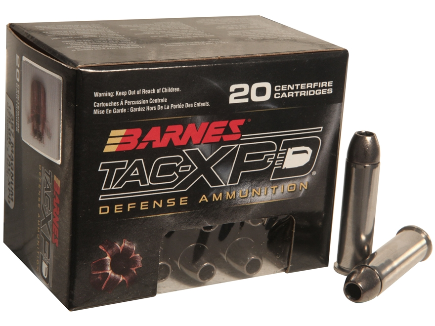 Barnes TAC-XPD Ammunition 357 Magnum 125 Grain TAC-XP Hollow Point Lead-Free Box of 20