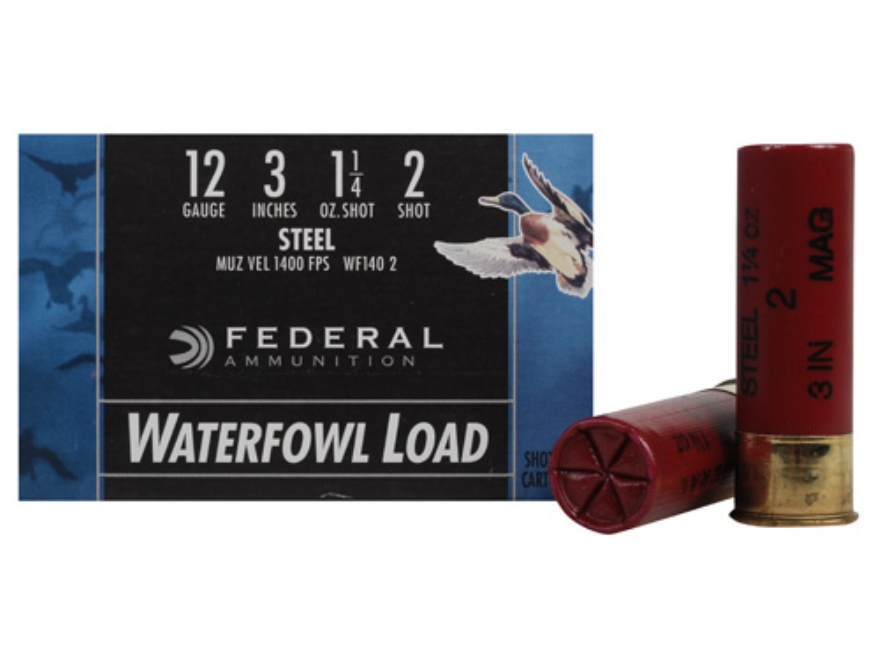 "Federal Speed-Shok Waterfowl Ammunition 12 Gauge 3"" 1-1/4 oz #2 Non-Toxic Steel Shot"