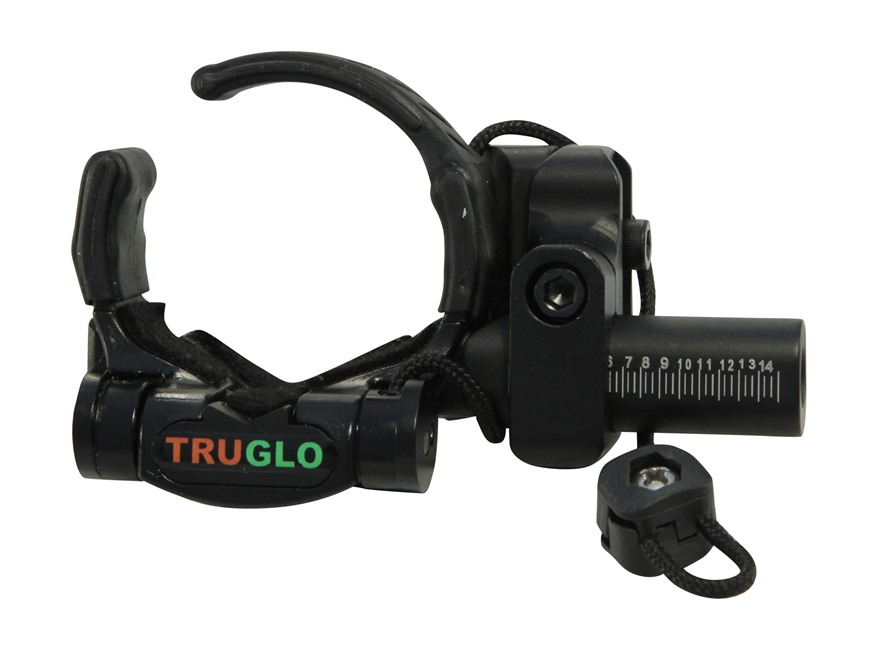 TRUGLO Down-Draft Drop-Away Arrow Rest Aluminum Black