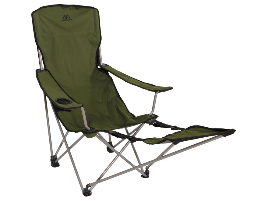 ALPS Mountaineering Escape Folding Chair with Footrest Steel and Polyester Green