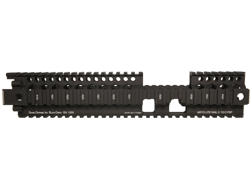 Daniel Defense Lite Rail II 12.0 FSP Free Float Tube Handguard Quad Rail AR-15 Extended...