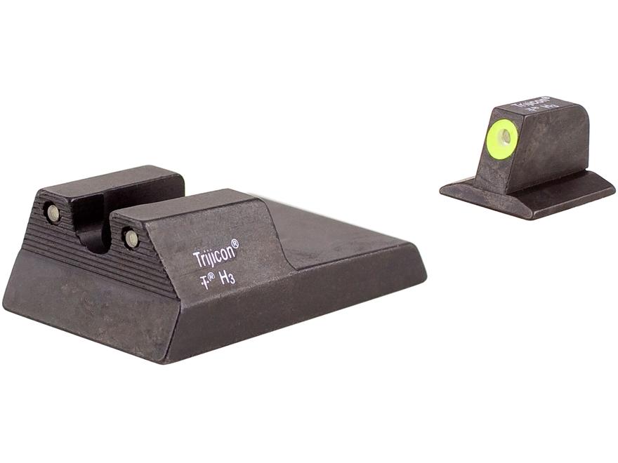 Trijicon HD Night Sight Set Ruger SR9, SR40, SR40C, SR45 Steel Matte 3-Dot Tritium Gree...