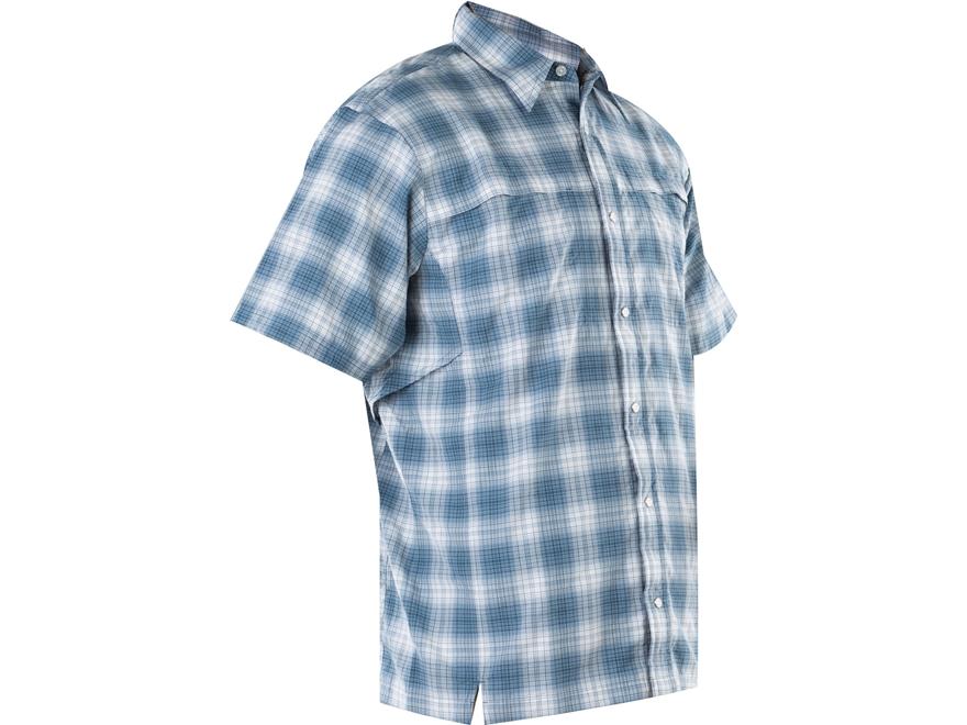 Tru-Spec Men's 24-7 Plaid Camp Shirt Short Sleeve Nylon/Polyester