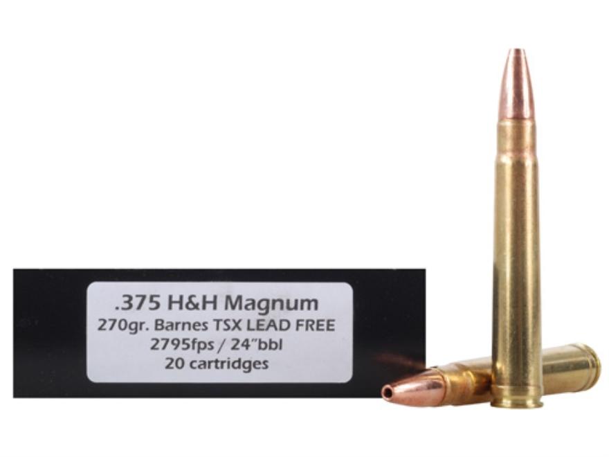 Doubletap Ammunition 375 H&H Magnum 270 Grain Barnes Triple-Shock X Bullet Lead-Free Bo...