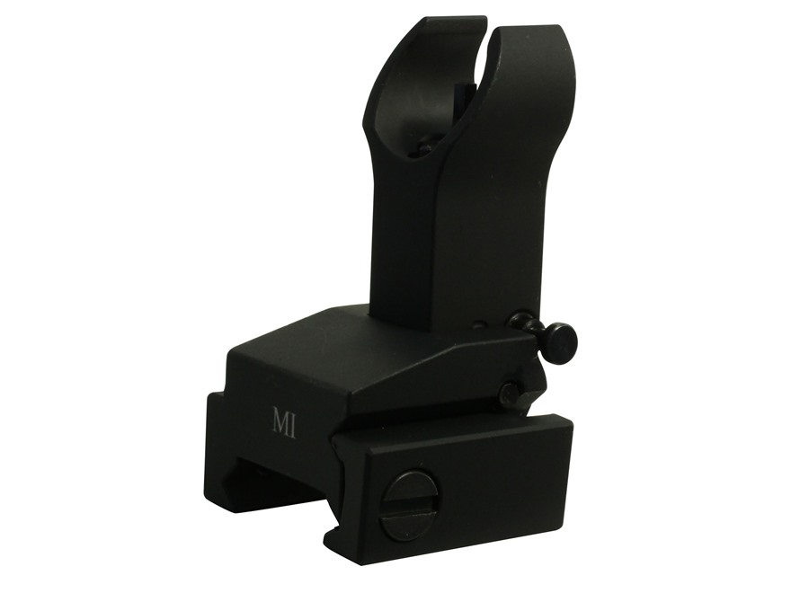 Midwest Industries Flip-Up Front Sight Gas Block Height AR-15, LR-308 Aluminum Black
