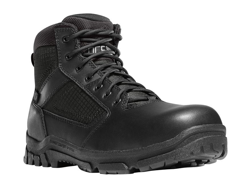 """Danner Lookout 5.5"""" Waterproof Side-Zip Non-Metallic Toe Tactical Boots Leather/Nylon"""