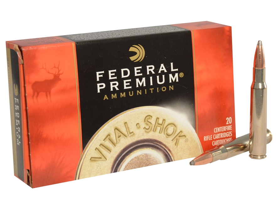 Federal Premium Vital-Shok Ammunition 30-06 Springfield 180 Grain Nosler Partition
