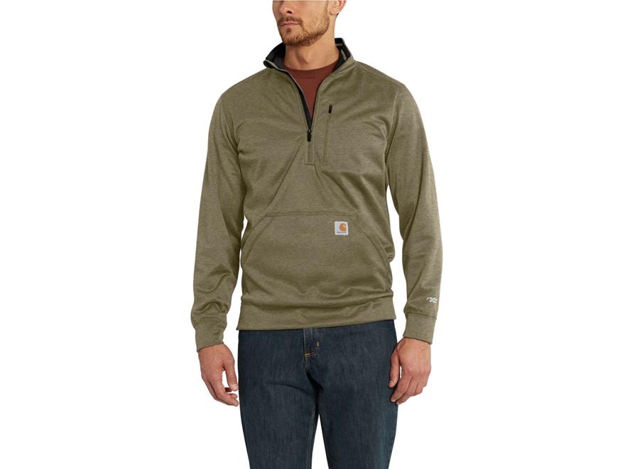 Carhartt Men's Force Extremes Mock Neck Half-Zip Sweatshirt Polyester/Cocona 37.5