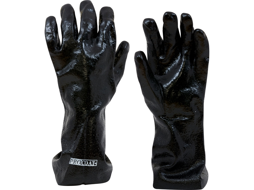 "Callahan 14"" Chemical Resistant Gloves PVC Coated Large Black"