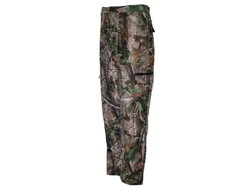 10X Men's Ultra-Lite Pants Polyester Ripstop Realtree APG Camo Medium 34-36