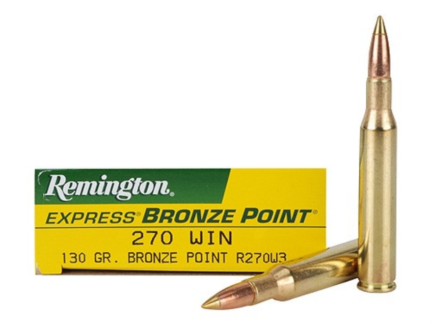 Remington Express Ammunition 270 Winchester 130 Grain Bronze Point Box of 20