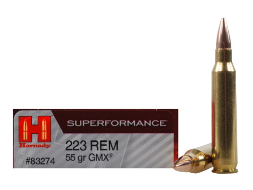 Hornady Superformance GMX Ammunition 223 Remington 55 Grain GMX Hollow Point Lead-Free ...