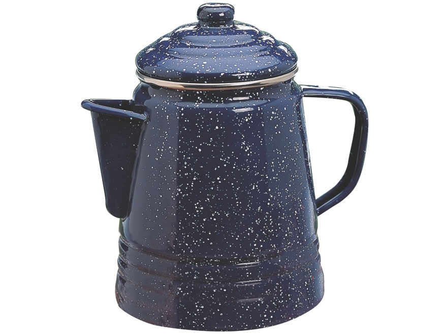Coleman 9 Cup Enamelware Coffee Percolator Enamel Blue