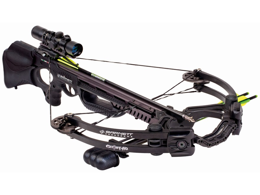Barnett Ghost 410 CRT Crossbow Package with 3x 32mm Multi-Reticle Scope Black