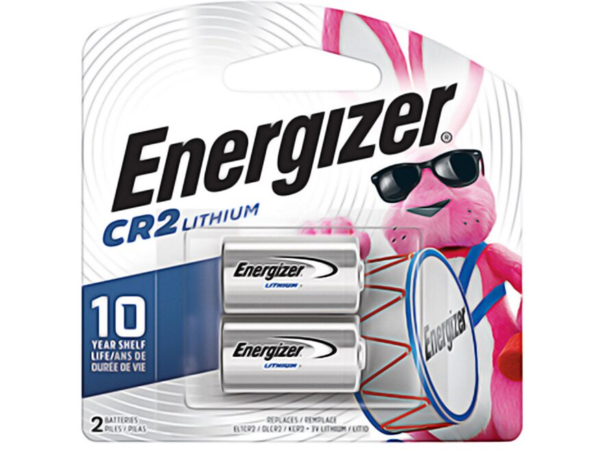 Energizer Battery CR2 3 Volt Lithium Pack of 2