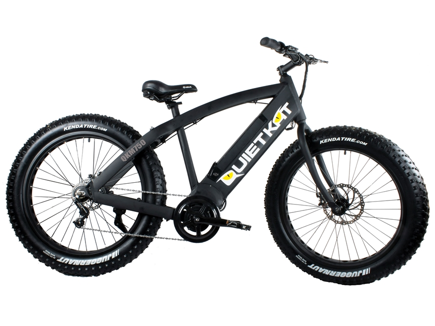 QuietKat 750W QKEco Motorized FatKat Bike with Internal Motor and Chain Drive Black