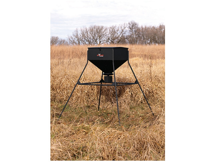 Big Game 450 lb Standing Game Feeder Steel Black