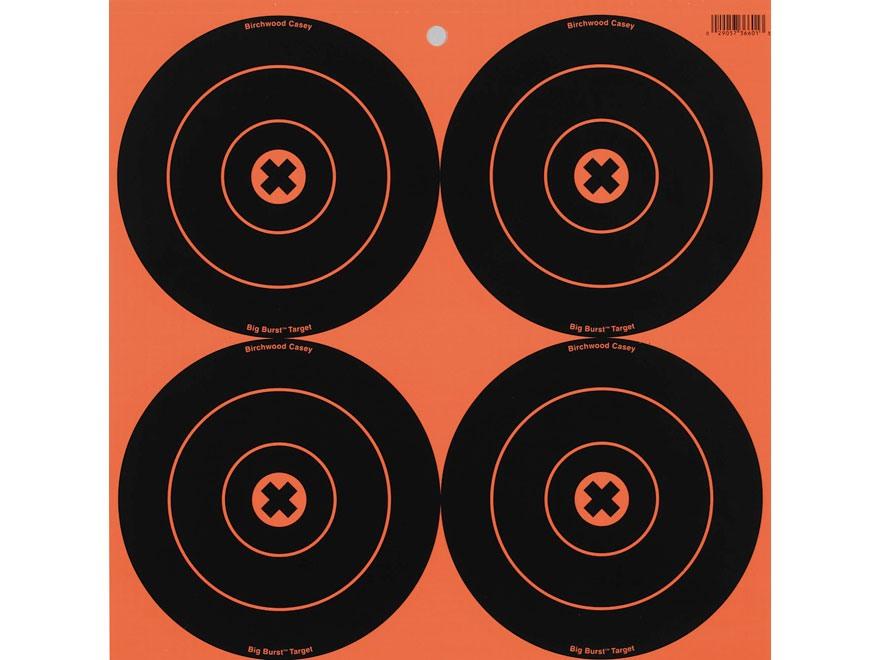 """Birchwood Casey Big Burst BB6 6"""" Bullseye Target Pack of 12"""