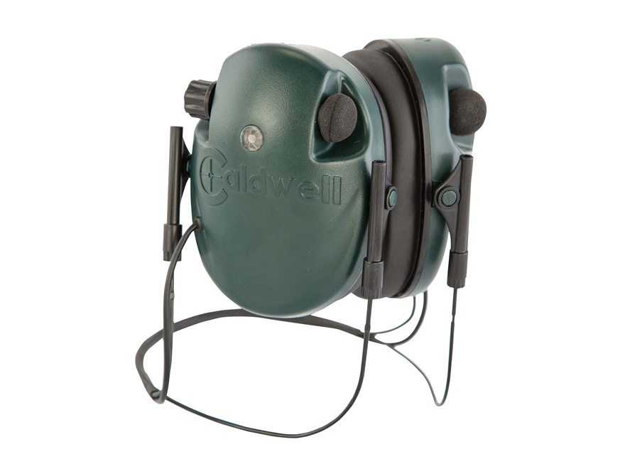 Caldwell E-MAX Low Profile Behind the Head Electronic Earmuffs (NRR 21dB) Green