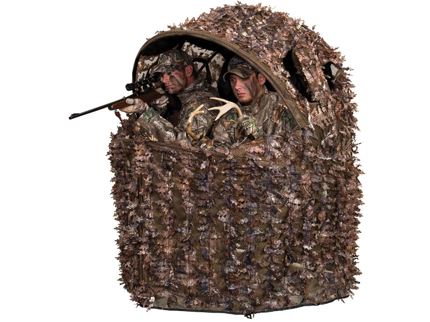 Ameristep Deluxe 3d Leafy 2 Man Chair Ground Blind Mpn