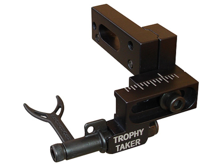 Trophy Taker Pronghorn Short Bar Drop-Away Arrow Rest Right Hand Aluminum Black