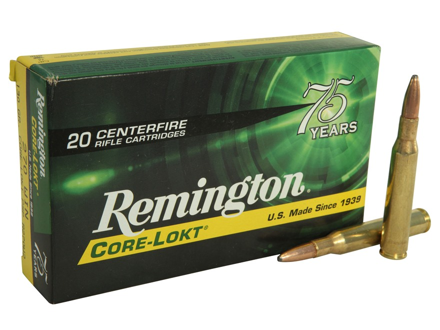 Remington Express Ammunition 270 Winchester 130 Grain Core-Lokt Pointed Soft Point Box ...
