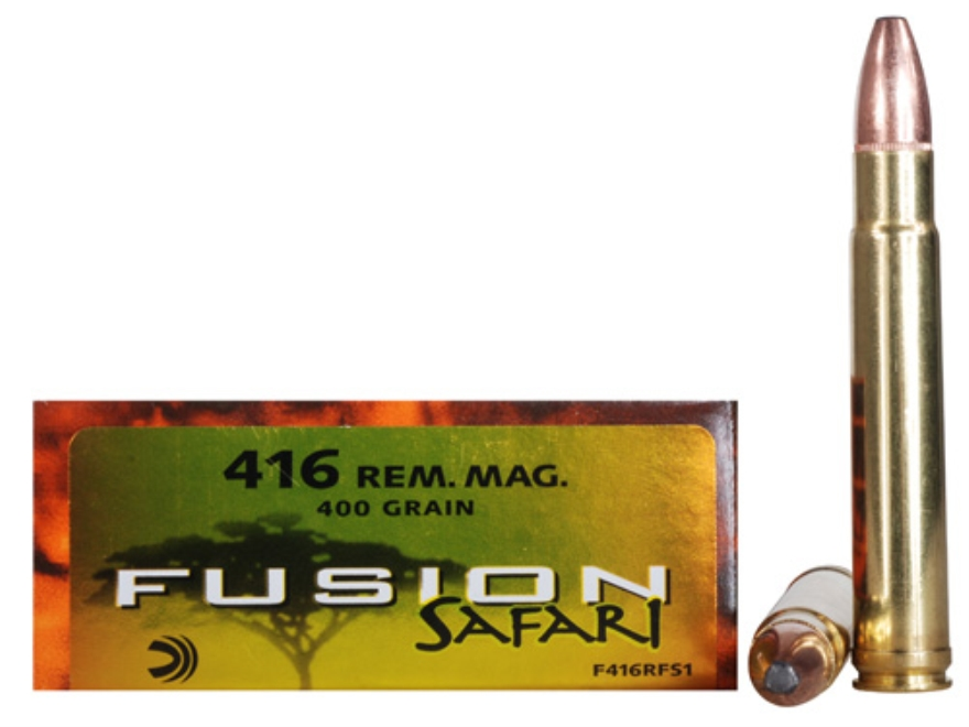 Federal Fusion Safari Ammunition 416 Remington Magnum 400 Grain Spitzer Boat Tail Box o...