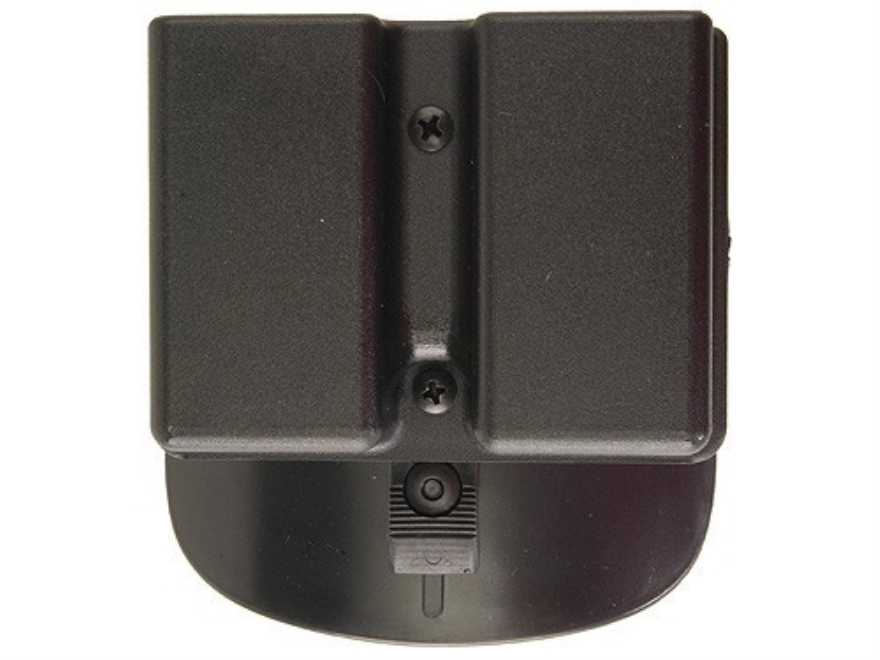 Uncle Mike's Double Magazine Belt Pouch for Double Stack Magazine Paddle Kydex Black