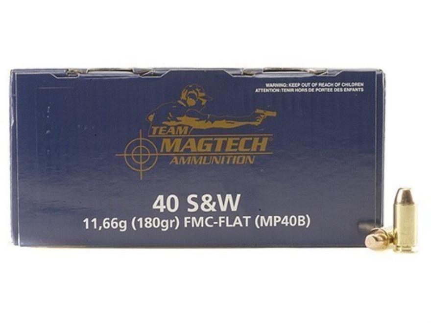 Magtech Sport Ammunition 40 S&W 180 Grain Full Metal Jacket