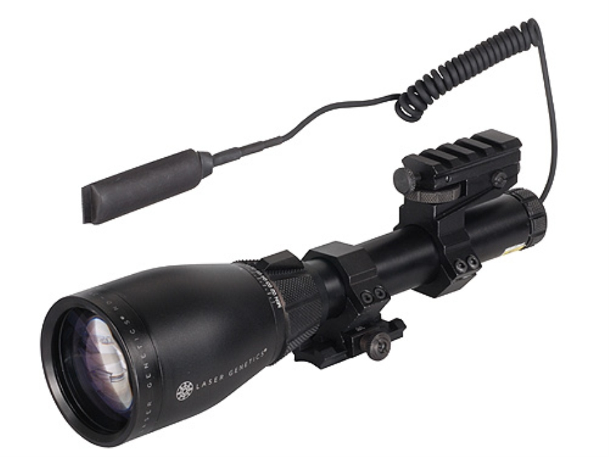"Laser Genetics ND3X50 40 mW Green Laser Designator with Pressure Switch, 1"" Scope Mount..."
