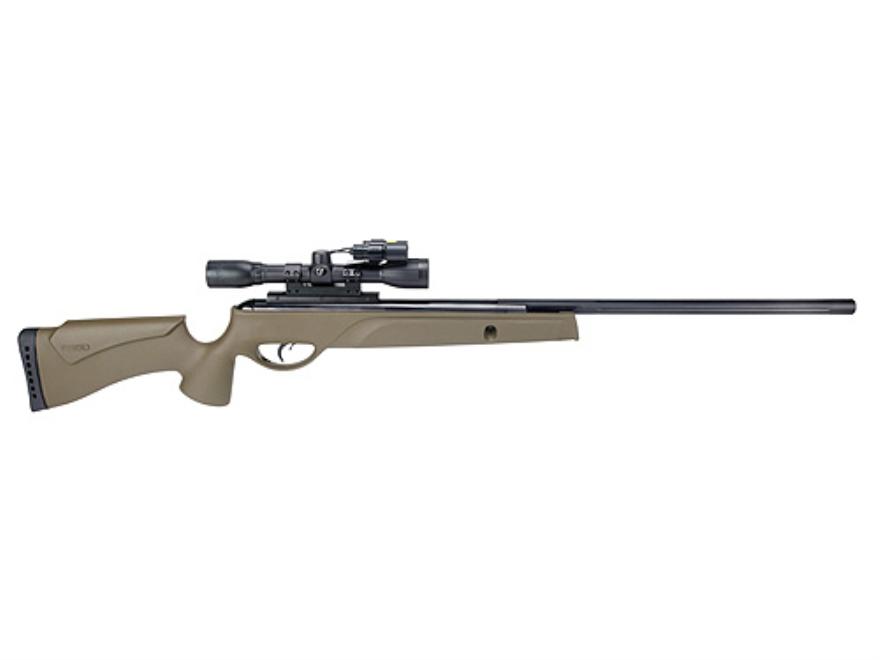 Gamo Varmint Hunter HP Air Rifle 22 Caliber Olive Drab Synthetic Stock Blue Barrel with...
