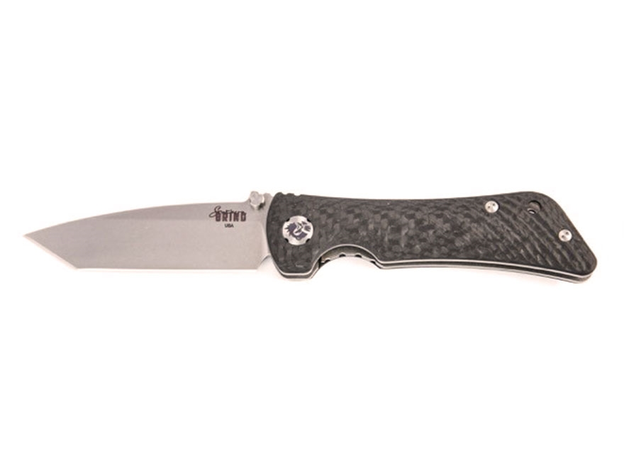 "Southern Grind Spider Monkey Folding Pocket Knife 3.25"" Modified Tanto S35VN Blade Carb..."