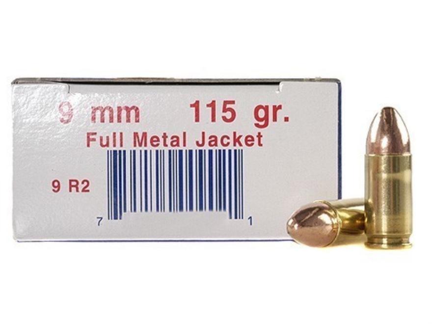 Ultramax Remanufactured Ammunition 9mm Luger 115 Grain Full Metal Jacket