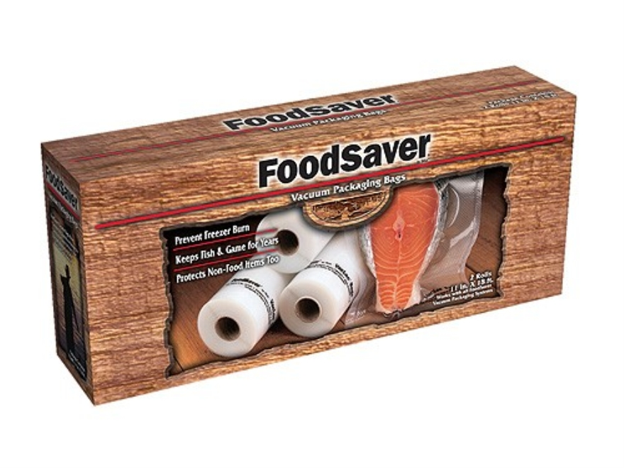 "FoodSaver Gamesaver 11"" Vacuum Packaging Bags 16' Roll Pack of 2"