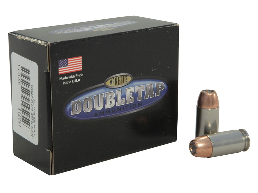 Doubletap Ammunition 45 ACP 200 Grain Bonded Defense Jacketed Hollow Point Box of 20