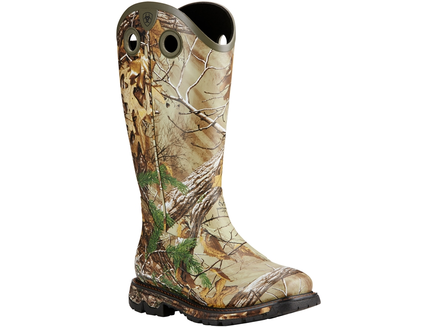 "Ariat Conquest Buckaroo 16"" Waterproof 3.5mm Insulated Hunting Boots Rubber Realtree Xt..."
