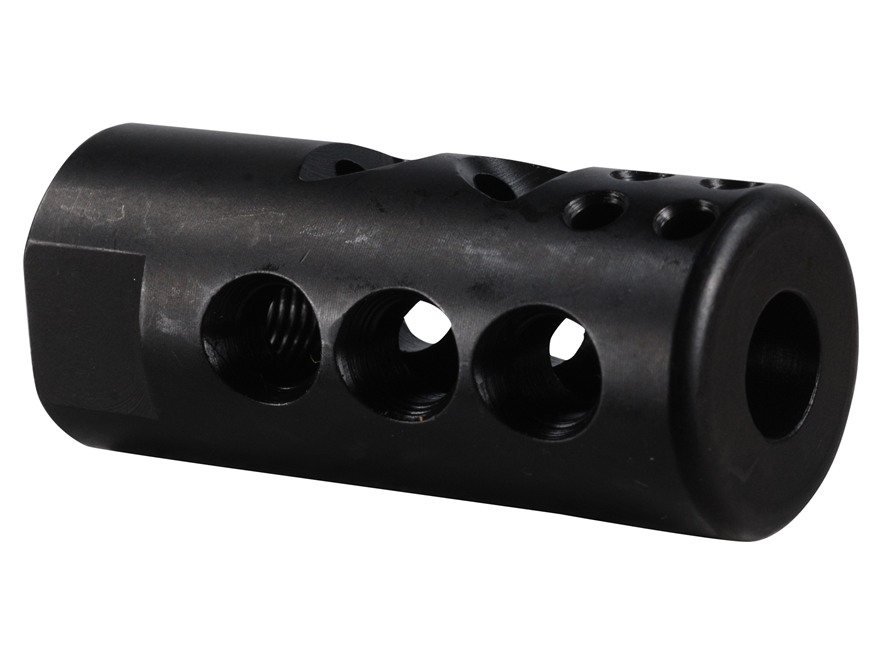 "Smith Enterprise Good Iron Muzzle Brake 1/2""-28 Thread with Jam Nut AR-15 Matte"