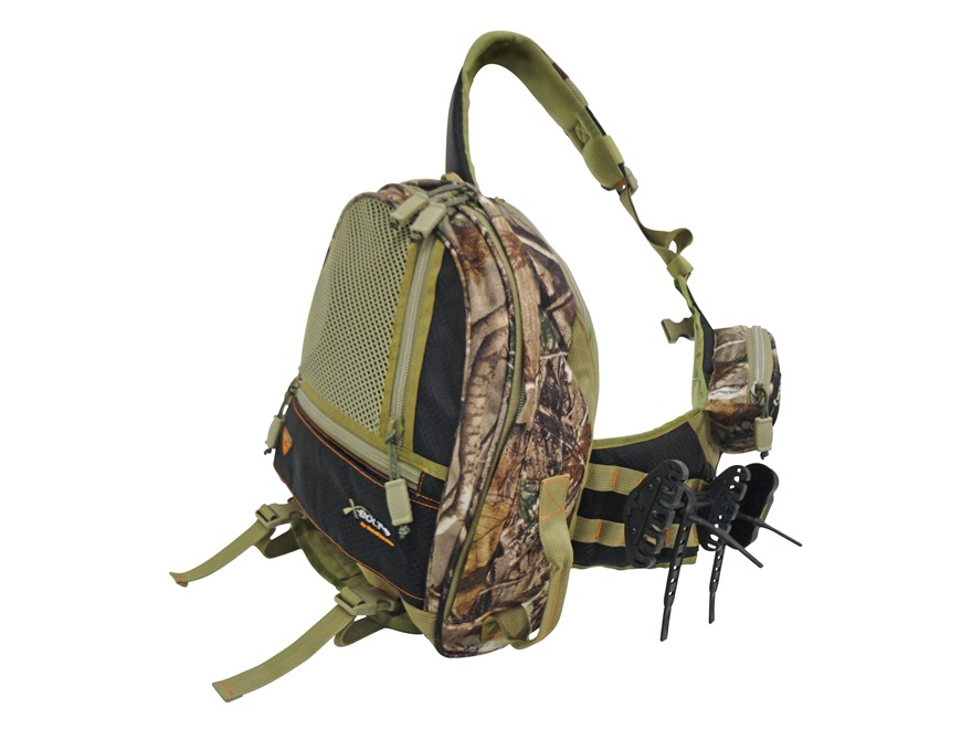 GamePlan Gear XBolt Crossbow Quiver Backpack with TruGlo 4-Bolt Quiver Polyester Realtr...