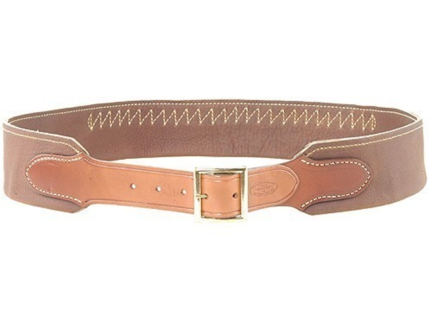 "Hunter Cartridge Belt ""Duke"" Style 45 Caliber 25 Loops Leather Chestnut XL"