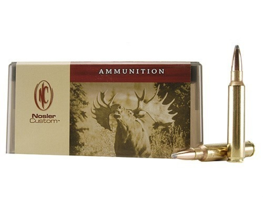 Nosler Custom Ammunition 338 Remington Ultra Magnum 225 Grain Partition Spitzer Box of 20