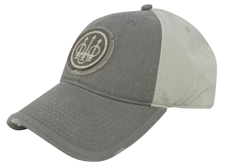 Beretta Washed Trident Cap Cotton Gray/Tan