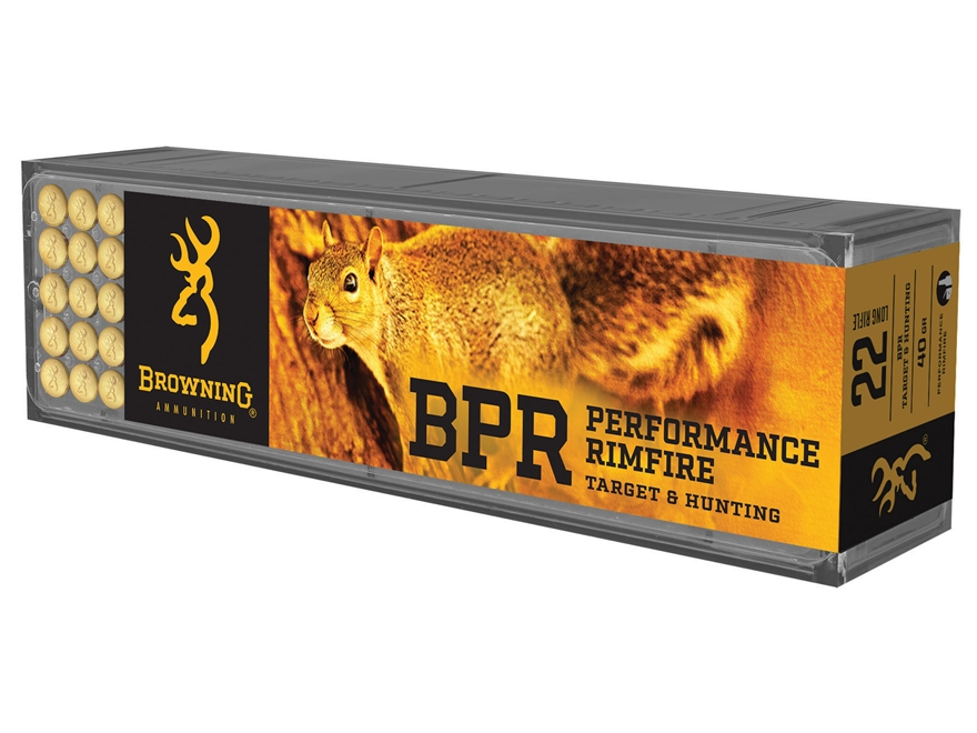 Browning BPR Ammunition 22 Long Rifle 40 Grain Lead Hollow Point