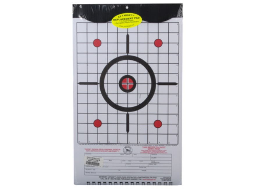 "EZ Target Sight-In Replacement Pad Target 11"" x 17"" Paper Package of 15"