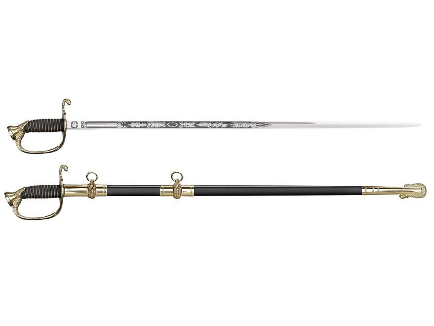 "Cold Steel US Naval Officer's Sword 37-1/4"" 1055 Carbon Steel Blade"