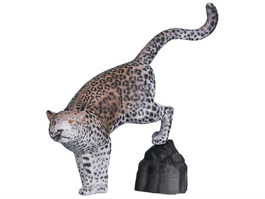 Rinehart Leopard with Rock 3-D Foam Archery Target