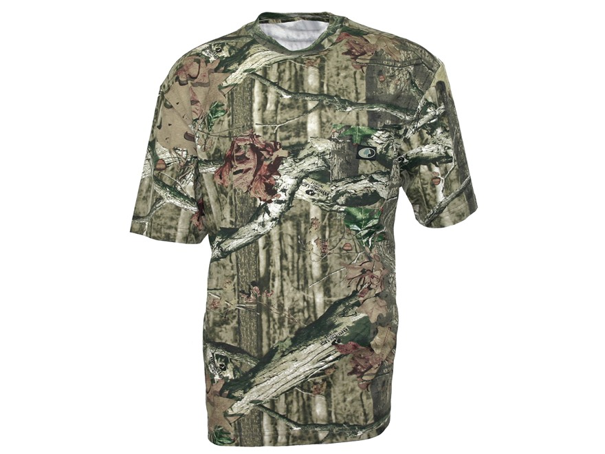 Mossy Oak Men's Pocket T-Shirt Short Sleeve Cotton Mossy Oak Break-Up Infinity Camo Lar...