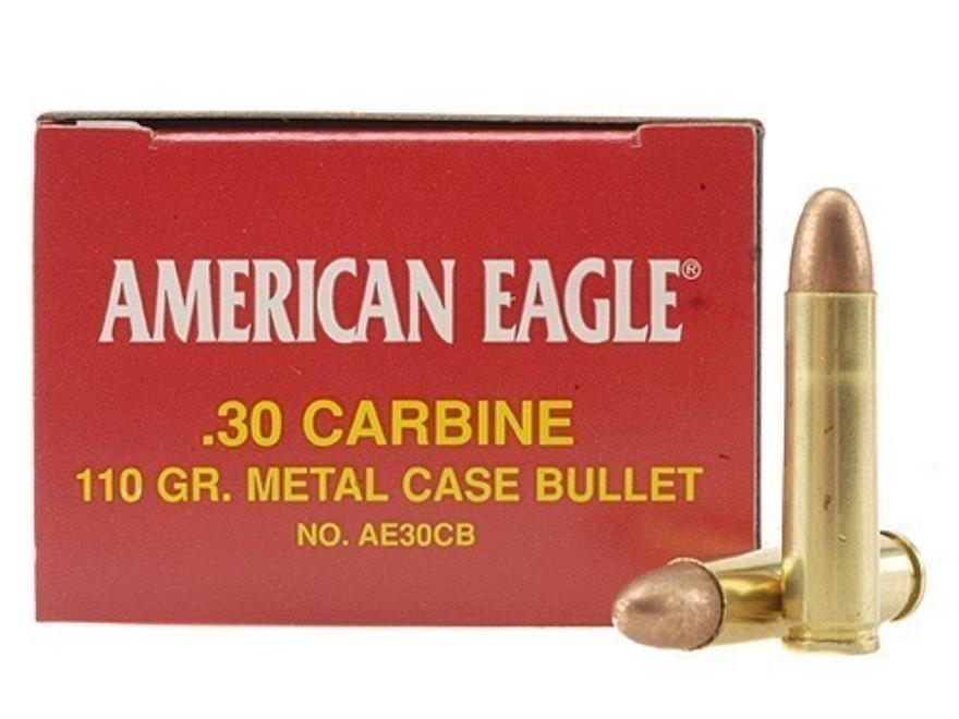 Federal American Eagle Ammunition 30 Carbine 110 Grain Full Metal Jacket
