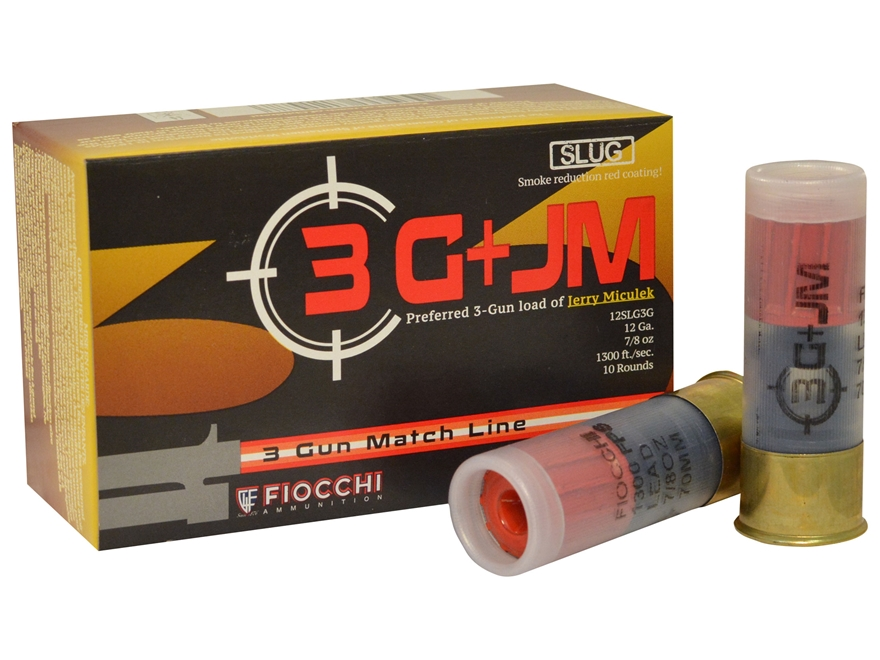 "Fiocchi 3-Gun Ammunition 12 Gauge 2-3/4"" 7/8 oz Rifled Slug"